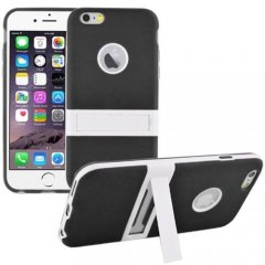 Funda iPhone 6 Carcasa Soporte Negra