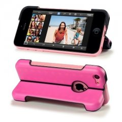 Funda iPhone 5C Carcasa Soporte Rosa