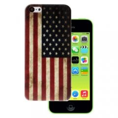 Funda iPhone 5C Gel Bandera Estados Unidos