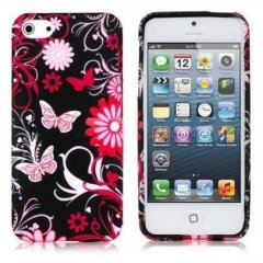 Funda iPhone 5 Mariposa Rosa