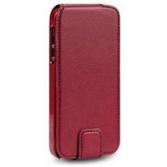 Funda iPhone 5 Cuero Granate Flip