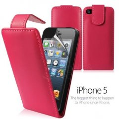 Funda iPhone 5 Cuero Rosa
