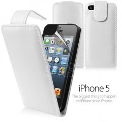 Funda iPhone 5 Cuero Blanca