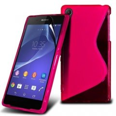 Funda Gel Xperia Z2 Wave Rosa