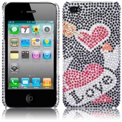 Funda iPhone 4S Carcasa Brillante Love Smoke