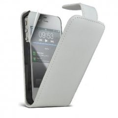 Funda iPhone 4S Cuero Blanca