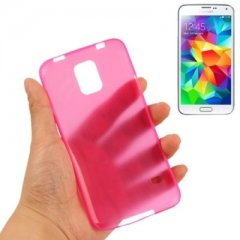 Funda Samsung Galaxy S5 Gel Extra Fina 0,3mm Anti Huella Rosa