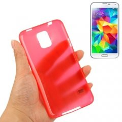 Funda Samsung Galaxy S5 Mini Gel Extra Fina 0,3mm Anti Huella Roja