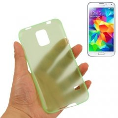 Funda Samsung Galaxy S5 Mini Gel Extra Fina 0,3mm Anti Huella Verde