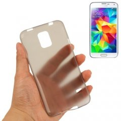 Funda Samsung Galaxy S5 Mini Gel Extra Fina 0,3mm Anti Huella Smoke