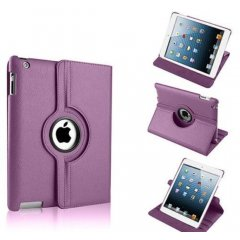 Funda Ipad Mini 360º Cuero Violeta