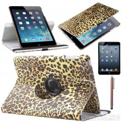Funda Ipad Air 360º Cuero Leopardo