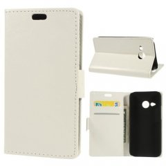 Funda hTC One Mini 2 Cuero Stand Blanca