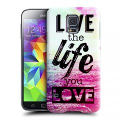 Funda Samsung Galaxy S5 Gel Live The Life