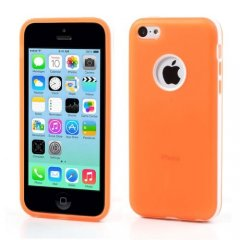 Funda iPhone 5C Gel Tpu Hybrid Naranja