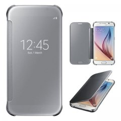 Funda Samsung Galaxy S6 Smart S-View Plata