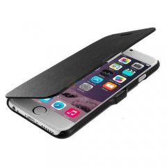 Funda iPhone 6 Cuero Negra XFina