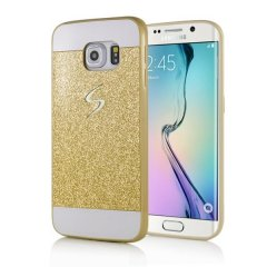 Carcasa Galaxy S6 Edge Diamante Dorada Bling