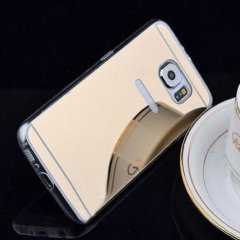 Funda Galaxy S6 Gel Cromada Oro