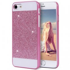 Funda iPhone 7 Carcasa Star Diamantes Rosa