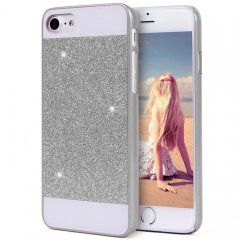 Funda iPhone 7 Carcasa Star Diamantes Plata