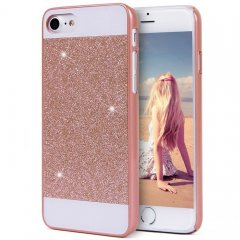 Funda iPhone 7 Carcasa Star Diamantes Oro Rosa