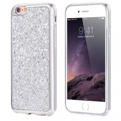 Funda iPhone 6 Carcasa Brillante Plata
