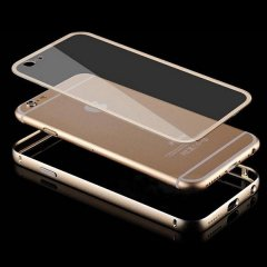 Bumper Iphone 7 Metal oro con trasera transparente