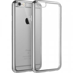 Funda Iphone 6 Gel Blanda con marco Cromado