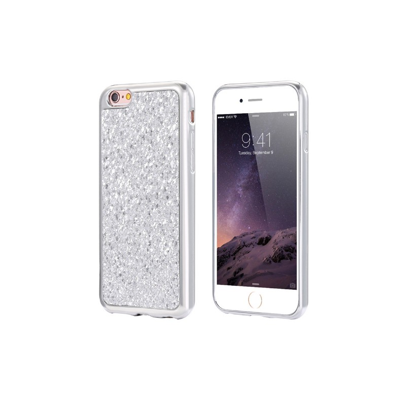fbef1781af9 Funda iPhone 6S Carcasa Brillante plata