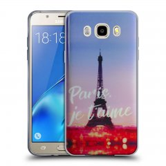 Funda Samsung Galaxy J5 2016 Gel Dibujo Paris