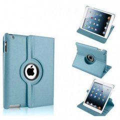 Funda Ipad Air 360º Cuero Celeste