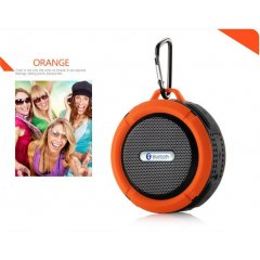 Altavoz Bluetooth Estereo Recargable Wateproof Naranja