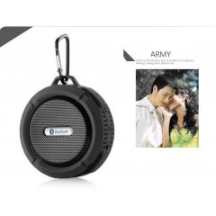 Altavoz Bluetooth Estereo Recargable Wateproof Negro