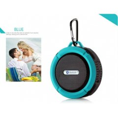 Altavoz Bluetooth Estereo Recargable Wateproof Azul