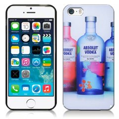 Funda iPhone 5 Gel Dibujo Botella Vodka