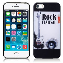 Funda iPhone 5 Gel Dibujo Rock