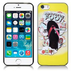 Funda iPhone 5 Gel Dibujo Chanclas