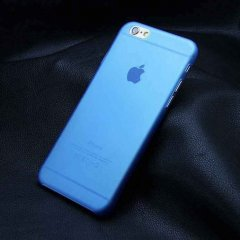 Funda iPhone 6 Gel Extra Fina 0,3mm Anti Huella Azul