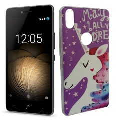Funda BQ Aquaris X5 Plus Gel Dibujo Unicornio