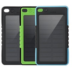 PowerBank Solar 8000Mah impermeable verde IP6