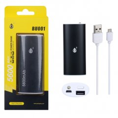 POWER BANK Metalbox 5600 mAh bateria externa Negra