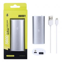 POWER BANK Metalbox 5600 mAh bateria externa Plata