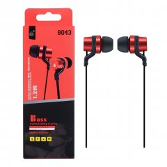 Auriculares HC Bass in Ear Rojo