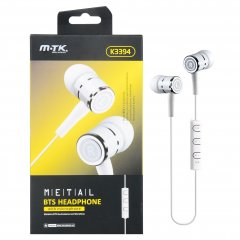 Auriculares Bluetooth MTK Boss in Ear con micro Blanco