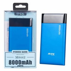 POWER BANK MTK Shiny 8000 mAh azul