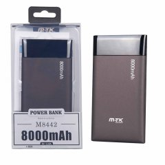 POWER BANK MTK Shiny 8000 mAh negro