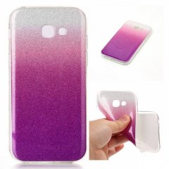 Funda Samsung Galaxy A3 2017 Gel Purpurina Rosa
