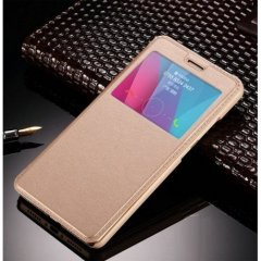 Funda Galaxy S7 Edge Flip View Cover Dorada
