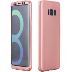 Funda Galaxy S8 Plus Gel Blanda 360 Rosa